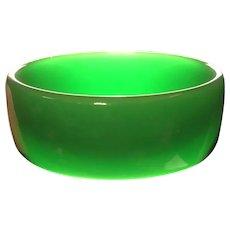 Kelly Green Translucent Simichrome Tested Bangle Bracelet