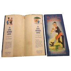 1945 The So Long Mother Goose Children's Book  Rhymes and Pictures Dust Jacket
