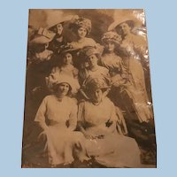 Wonderful Early Unused Real Photo Postcard Ladies Top Heavy with Hats,Millinery Fashion