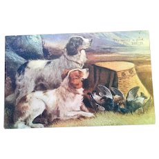 2 Bird Dogs Psalms Scripture Postcard Print for Framing or Mailing