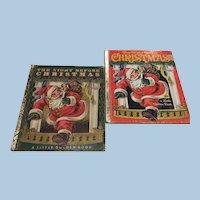 The Night Before Christmas 1949, 1982 Little Golden Books Clement Moore Children's Books