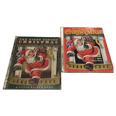 The Night Before Christmas 1949, 1982 Little Golden Books Clement Moore Children's Books