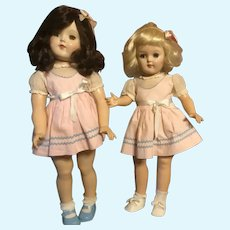 Sisters, Cousins or Friends Two Toni Dolls One Price Brunette and Platinum P93, P19