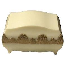 Art Deco Gold Leaf Gilt Celluloid Ring Presentation Casket Box