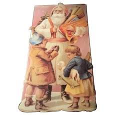 Vintage Victorian Santa Claus Candy Box with Children, Toys Long Grove Confectionery Co.