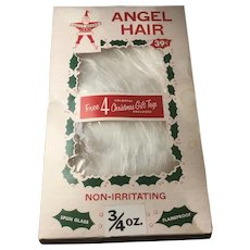 Vintage Holly Brand Angel Hair for Christmas Trees, Mantels, Decorations Original Box