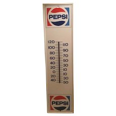 28 Inches Long Pepsi Cola Advertising Thermometer from 1971