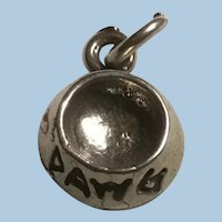 Sterling Silver Dog Bowl Charm or Small Pendant Dawg Dish