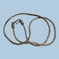 925 Bali Sterling Silver Round Woven Chain Necklace 19.5 Inches