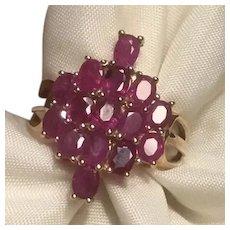 10K Gold Ruby Ring KY Estate 10 Karat Size 6 1/4.