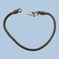 Bali Sterling Silver Bracelet Marked 925