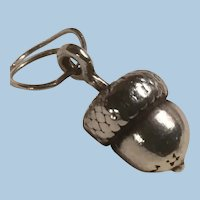 Adorable Sterling Silver Acorn Charm