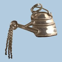Sterling Silver Mechanical Pouring Watering Can Pendant or Charm