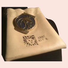 Roaring Lion Money Clip in Anne Klein Leather Pouch Florentine and Shiny Gold