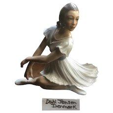 Amazing Dahl Jensen Denmark Copenhagen Number 1289 Ballerina Figurine
