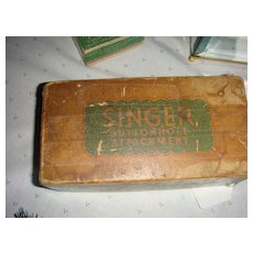 Singer Buttonhole Attachment for Singer Lock Stitch Machine Original Box Manual