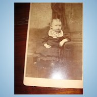 Baby Cabinet Card from Victorian Era: J.R.Cole Hillsdale, Michigan