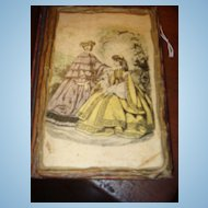 "1908/1944 Miniature Book With Victorian Ladies on Cover 5"" x 4 1/4"""
