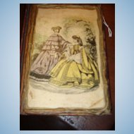 """1908/1944 Miniature Book With Victorian Ladies on Cover 5"""" x 4 1/4"""""""