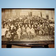 1942 COKE Memorabilia/Coca-Cola Bottling Co. Christmas Party Rhode Island Framed Photo!