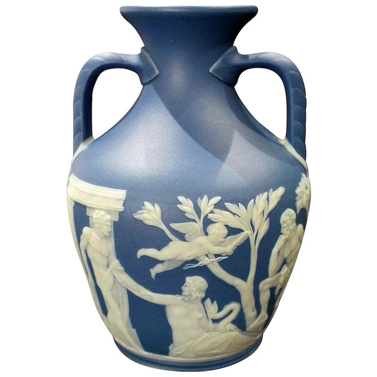 19th Century Wedgwood Jasperware Portland Vase Mint Condition The