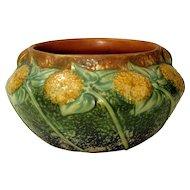 1930's Roseville Sunflower Handled Low Vase or Bowl