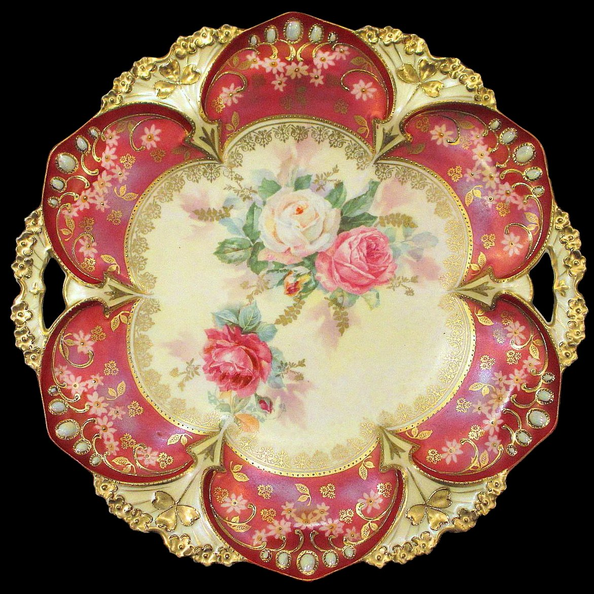 Ruby Red Cake Plate
