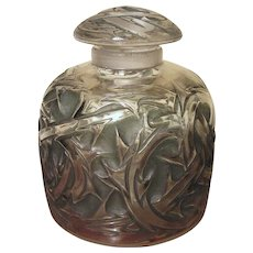 1920 Art Deco R. Lalique Epines Perfume Bottle