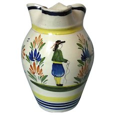 Vintage Hand Painted Henriot Quimper Pitcher