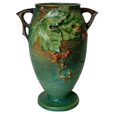 Roseville Pottery Green Bushberry Vase 35-9