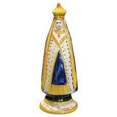 1930's Henriot Quimper Saint Figurine Statue of Notre Dame du Roncier