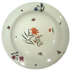Rare Large 18th. Century Meissen Charger Plate with Shadowed Insects