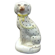 19th. Century Staffordshire Miniature Dalmatian Dog Figure