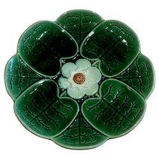 Antique English Majolica Pond Lily Plate