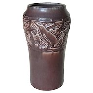1921 Rookwood Art Pottery Vase with three Rooks