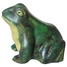 Weller Pottery Coppertone Frog Large Size