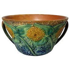 1930's Roseville Sunflower Open Handle Bowl