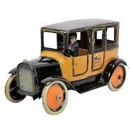 Greppert & Kelch Yellow Cab Taxi Tin Windup