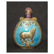 Vintage enamel Chinese snuff bottle