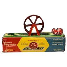 Chein  No. 270 Chipper Chipmunk Windup with Partial Box