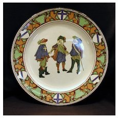 Early Royal Doulton Series Ware Plate – New Cavaliers