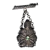French Perfume Bottle Pin, Brooch