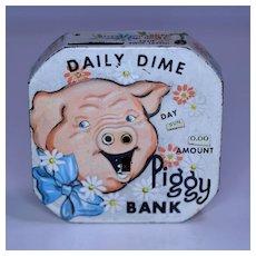 "Kalon "" Daily Dime Piggy Bank"" Register Piggy Bank"