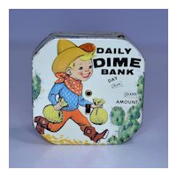"Kalon "" Daily Dime Bank"" Cowboy Register Bank"