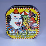 "Clown ""Daily Dime Bank"" Register Bank"