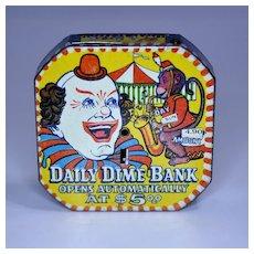 "Clown ""Daily Dime Bank"" Register Bank"