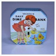 """Kalon """"Vacation Daily Dime Bank"""" Register Bank"""