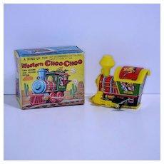 Yone Western Choo-Choo Wind-up—mint in box