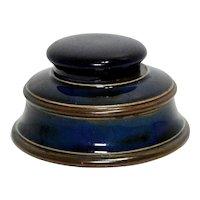 Royal Doulton Cobalt Stoneware Inkwell