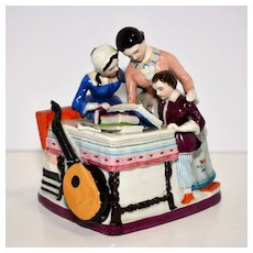 19th century Figural Ceramic Inkstand – Family Lessons